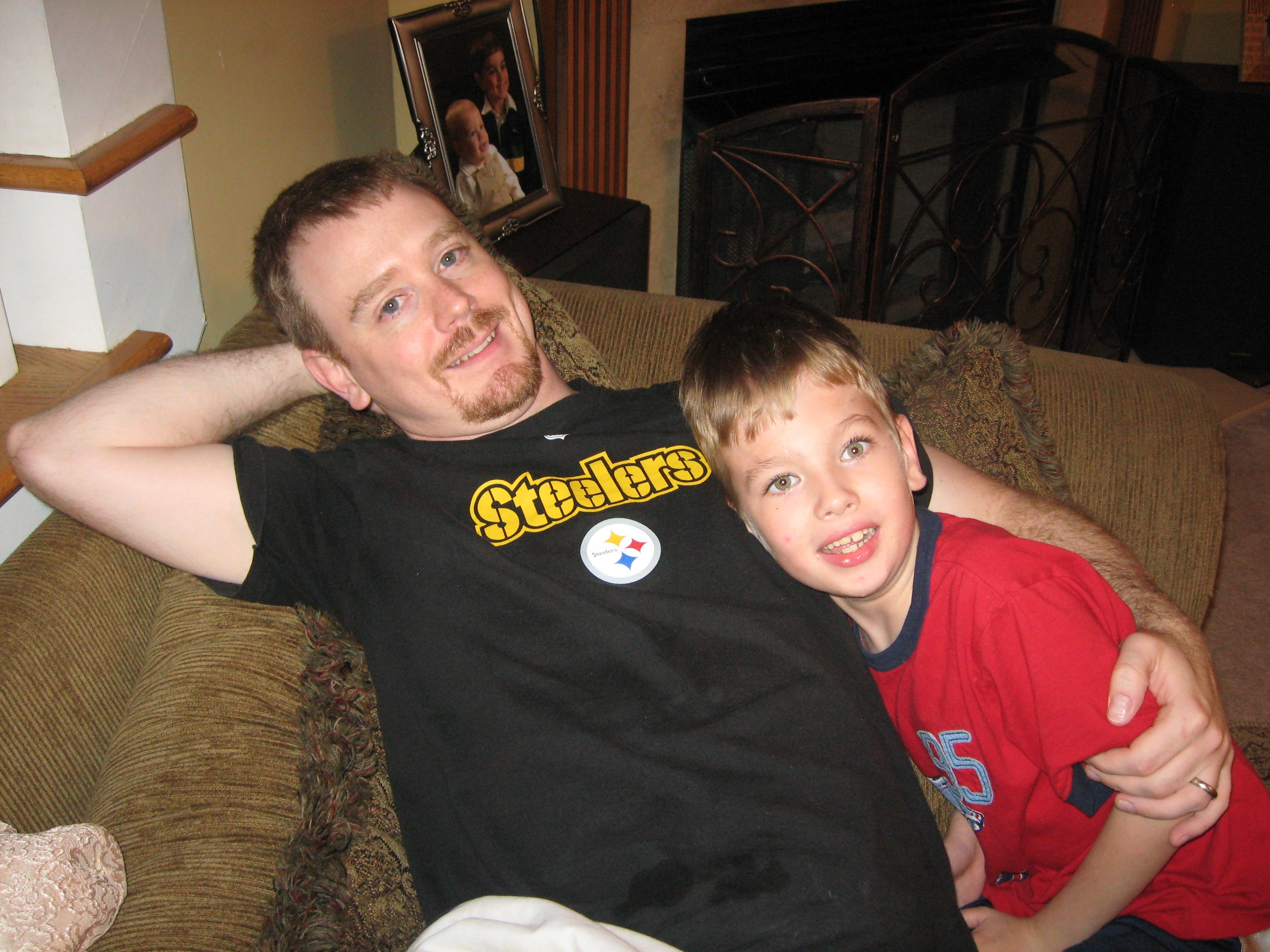 Landon with his best friend, Uncle Danny