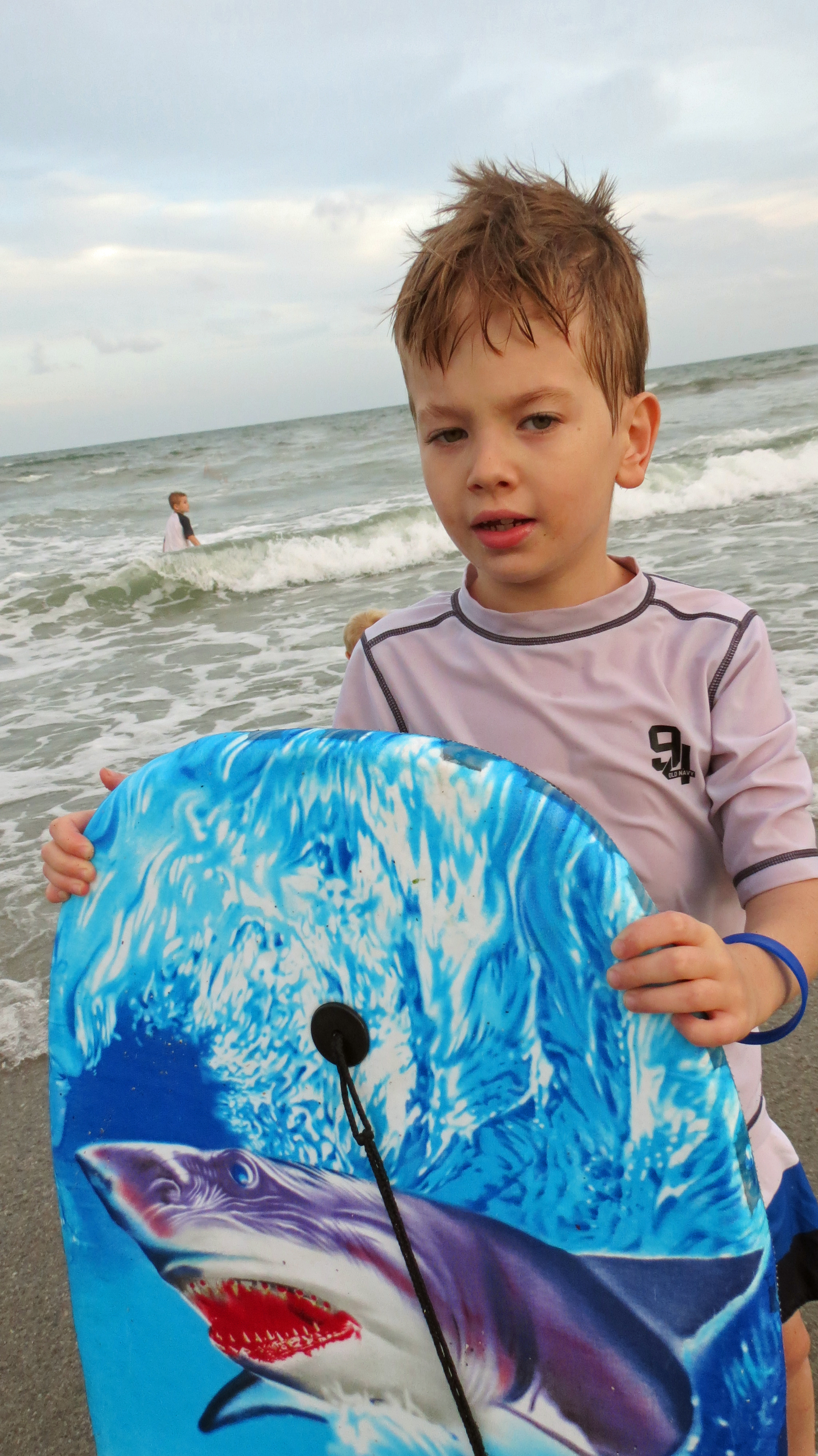 Enjoying a little boogie boarding