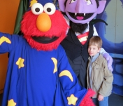 The Count and Elmo with Landon