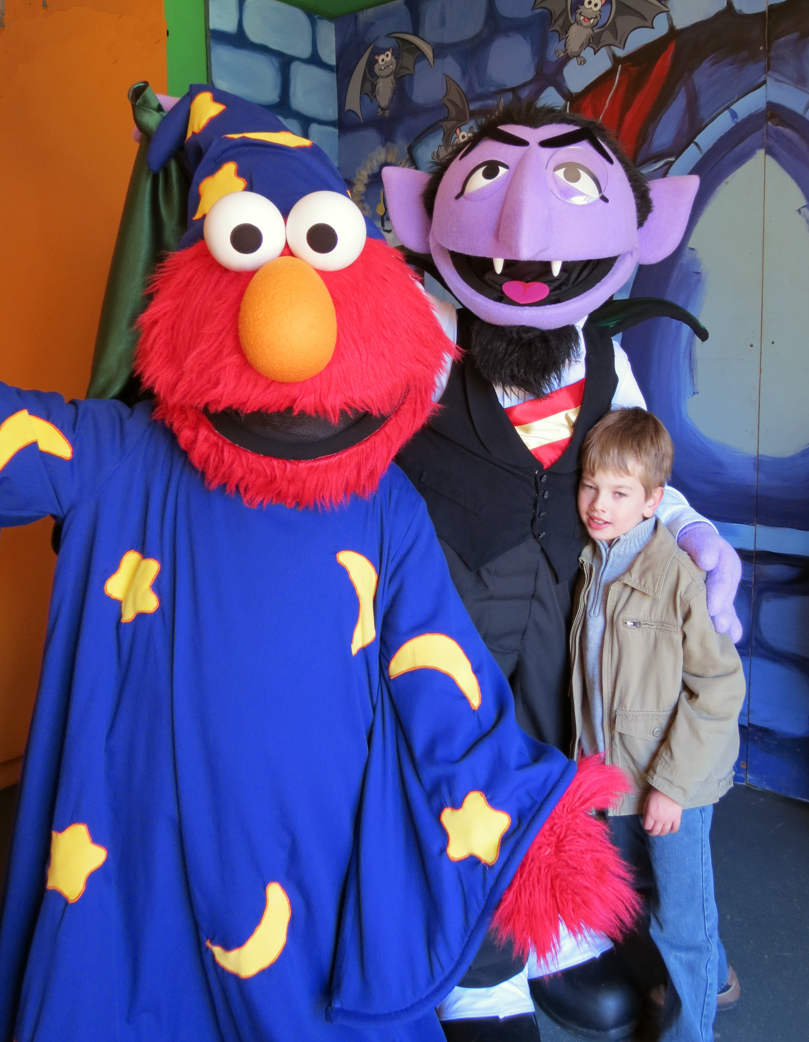 Landon with the Count and Elmo